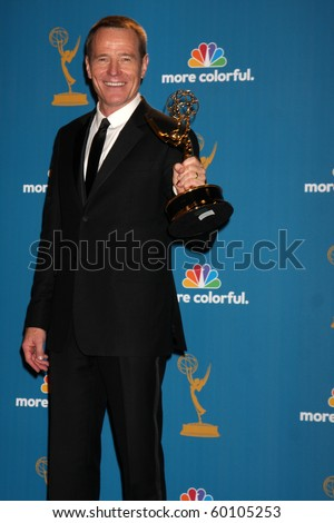 LOS ANGELES - AUG 29:  Bryan Cranston in the Press Room at the 2010 Emmy Awards at Nokia Theater at LA Live on August 29, 2010 in Los Angeles, CA