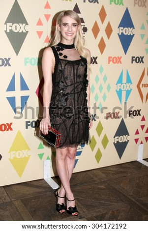 , LOS ANGELES - AUG 6:  Emma Roberts at the FOX Summer TCA All-Star Party 2015 at the Soho House on August 6, 2015 in West Hollywood, CA - stock photo