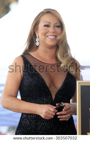 , LOS ANGELES - AUG 5:  Mariah Carey at the Mariah Carey Hollywood Walk of Fame Ceremony at the W Hollywood on August 5, 2015 in Los Angeles, CA - stock photo