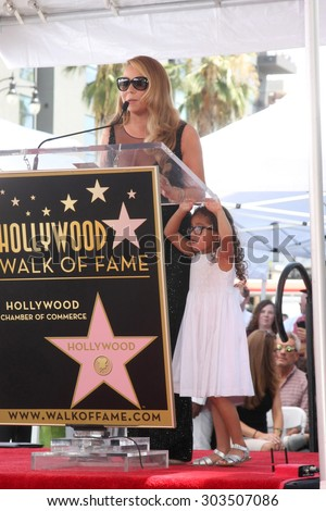 , LOS ANGELES - AUG 5:  Mariah Carey, Monroe Cannon at the Mariah Carey Hollywood Walk of Fame Ceremony at the W Hollywood on August 5, 2015 in Los Angeles, CA - stock photo