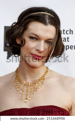 05/04/2009 - Los Angeles - Milla Jovovich at the Bravo's 2nd Annual A-List Awards held at the Orpheum Theater in Los Angeles, California, United States.