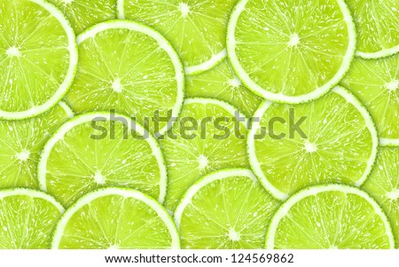 ?lose up green background with lime slices