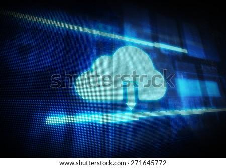 ?loud computing technology background - stock photo