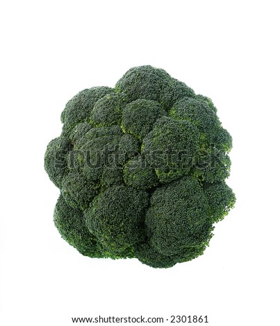 Low Carb Diet - fresh broccoli - stock photo