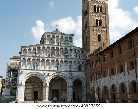 Lucca - view of St Martin's Cathedral facade