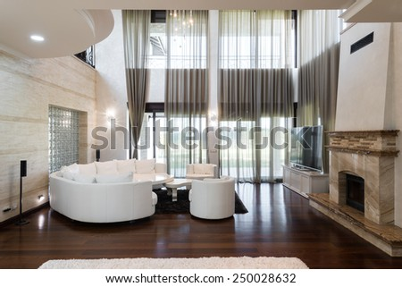 luxury apartment interior - stock photo