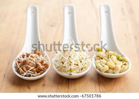 macrobiotic food - stock photo