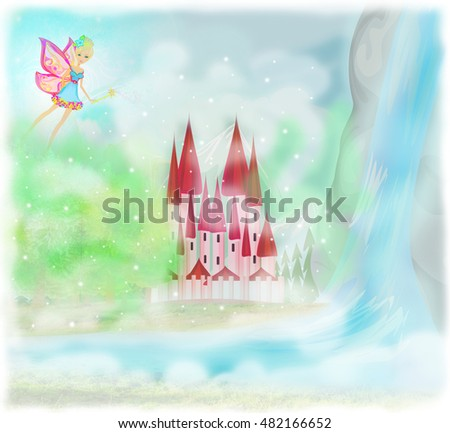 fairytale castle stock images royaltyfree images
