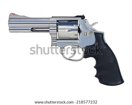 .357 magnum Revolvers isolated on white background