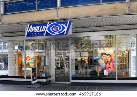MAINZ,GERMANY-AUG 01:APOLLO-OPTIK store on August 01,2016 in Mainz,Germany.Apollo-Optik is a global ophthalmic company with offices in about 40 countries.