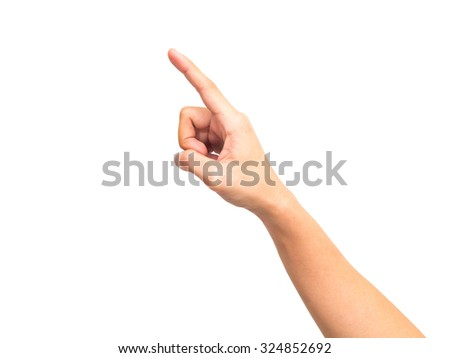 man hands isolated on white background