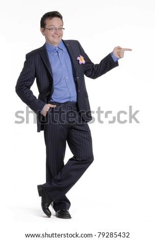 man portrait on white background. - stock photo