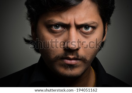 man with different expressions. - stock photo