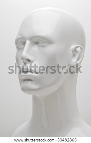 3/4 Mannequin Head Shot - stock photo