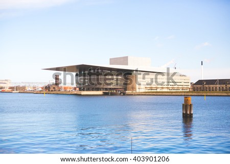 2016, March Copenhagen, Denmark: Opera House view