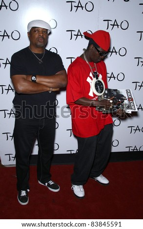 18 March 2011 - Las Vegas, Nevada - Chuck D, Flavor Flav.  Worship Thursday with Public Enemy at Tao Nightclub inside The Venetian Las Vegas, NV.  Photo Credit: MJT/AdMedia - stock photo