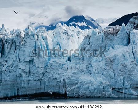 Margerie Glacier at Glacier bay national park in Southeast Alaska - stock photo