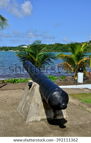 Martinique, the picturesque seaside of La Trinite in West Indies