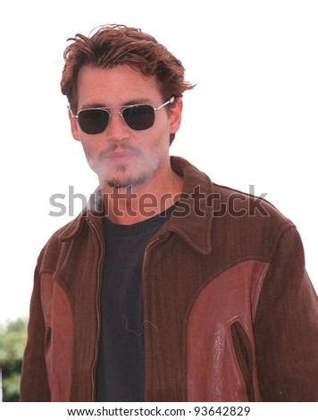 """15MAY98:  Actor JOHNNY DEPP at the Cannes Film Festival to promote his new movie """"Fear and Loathing in Las Vegas."""" - stock photo"""