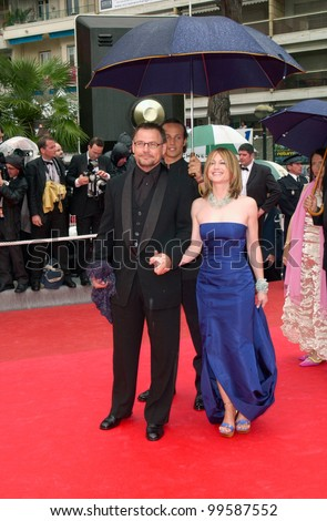 10MAY2000: Actress HOLLY HUNTER & husband JANUSZ KAMINSKY at the opening night gala screening of Vatel at the Cannes Film Festival.  Paul Smith/Featureflash - stock photo