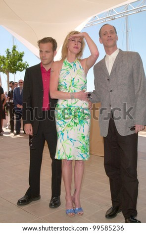 19MAY2000: Actress MELANIE GRIFFITH with actor STEPHEN DORFF (left) & director JOHN WATERS at the Cannes Film Festival to promote her movie Cecil B. DeMented.  Paul Smith / Featureflash - stock photo