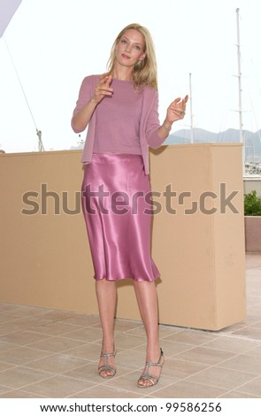 10MAY2000: Actress UMA THURMAN at the Cannes Film Festival where her movie Vatel opened the event.  Paul Smith/Featureflash - stock photo