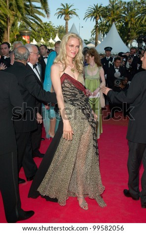 14MAY2000: Actress UMA THURMAN at the premiere of her new movie James Ivory's The Golden Bowl at the Cannes Film Festival.  Paul Smith / Featureflash - stock photo