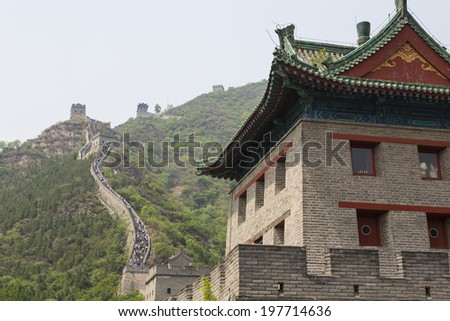 19 MAY 2014 - BEIJING, CHINA - The Great Wall of China at Juyongguan, near Beijing