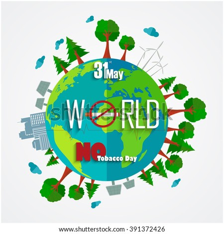 31 May World No Tobacco Day background