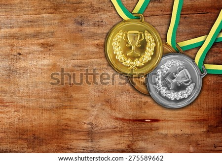 medals on the table - stock photo