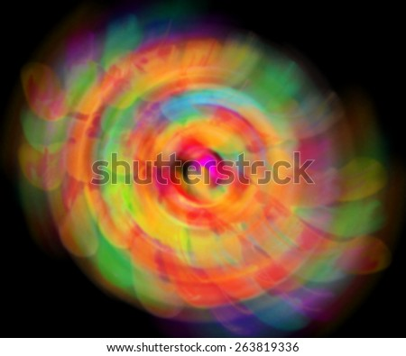 meditation color abstract wave blur lights in motion - stock photo