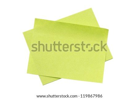 memo paper isolated on white background - stock photo