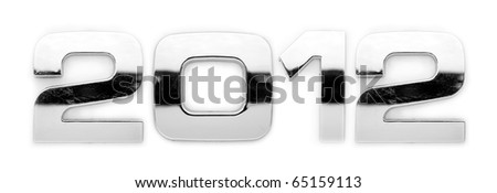 2012 - Metal alphabet symbols - stock photo