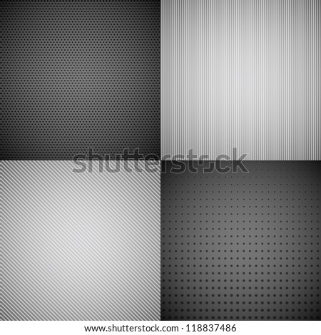 4 Metal Texture Backgrounds. Check my portfolio for vector version. - stock photo