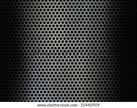 Metal with holes background - stock photo