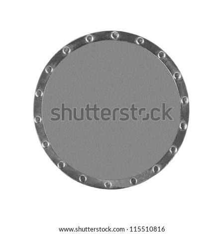 Metallic gray circle on a white background - stock photo