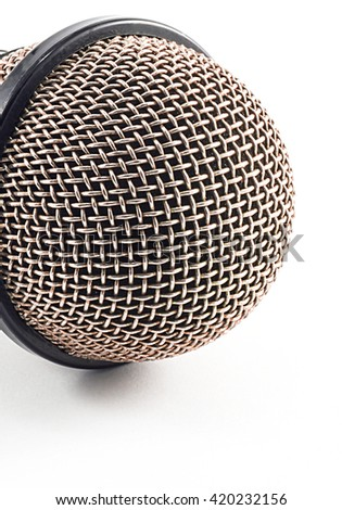 microphone isolated on white background.copy space and selective focus - stock photo