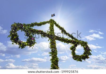 Midsummer celebrations - stock photo