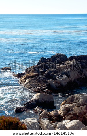 17 Mile Drive, along the Monterrey/Carmel Coastline, Highway 1, California. - stock photo