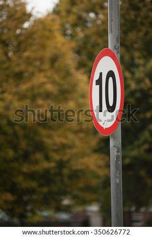 10 miles limit - stock photo