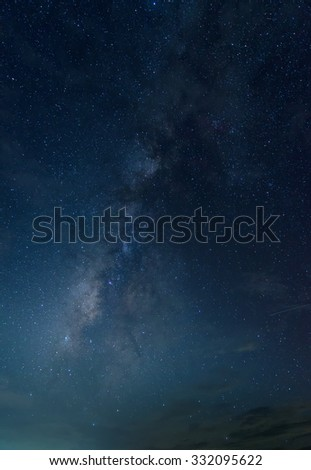 Milky Way in the sky in Thailand. - stock photo
