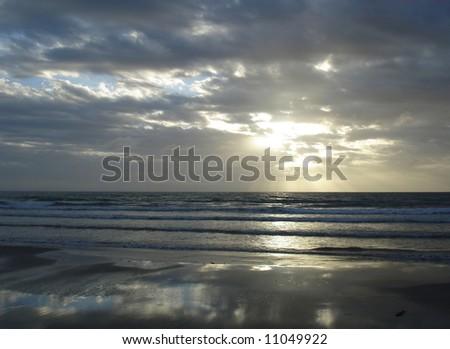 Mirror on the Beach - stock photo