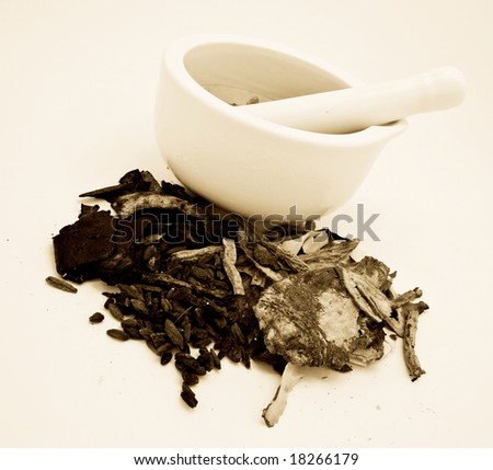 mixing chinese medicine - stock photo