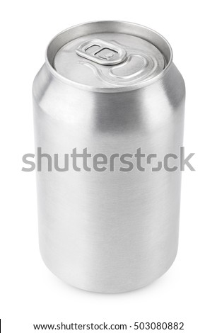 330 ml aluminum beverage drink soda can isolated on white with clipping path