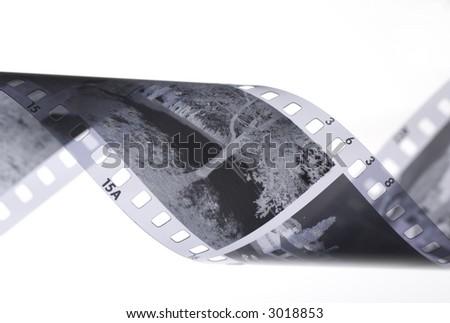 35mm Black and White Film - stock photo