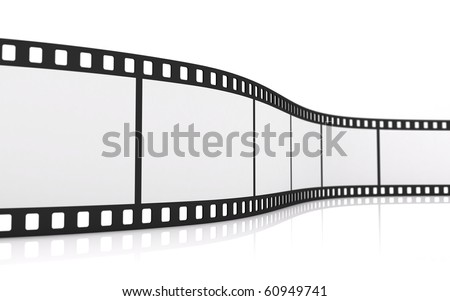 35mm blank film strip - stock photo