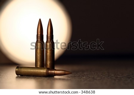 7.62mm bullets with light backing