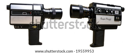 8 mm camera - stock photo