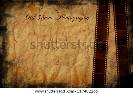 35mm film background and space for your text