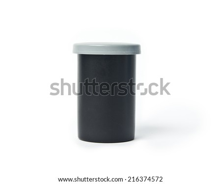 35 mm film case - stock photo